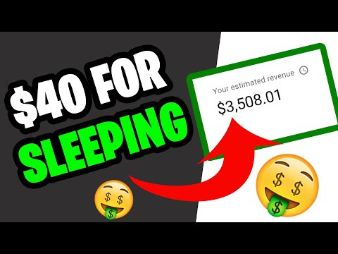 GET PAID $40 FOR SLEEPING (MAKE MONEY ONLINE TODAY!)