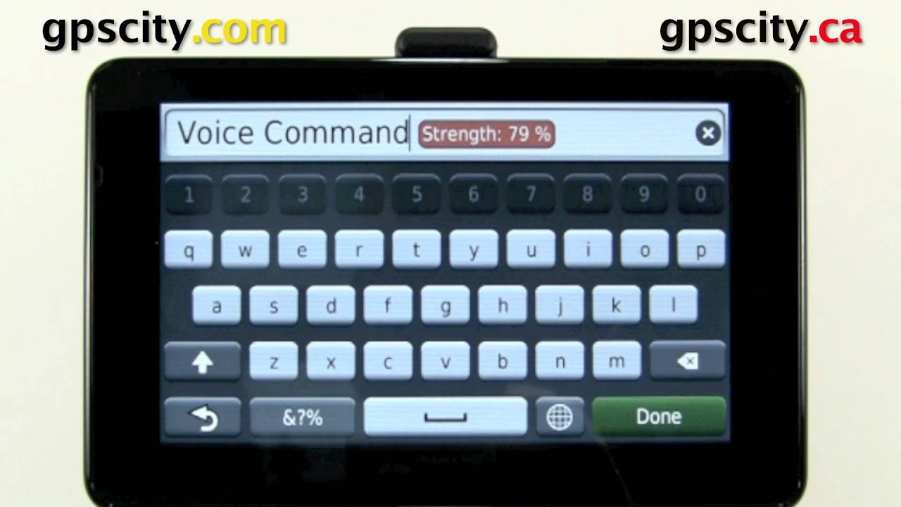 Changing the Voice Command Phrase in the Garmin nuvi 3590 with GPS City