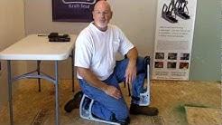 K2S Kraft Seat - Adjustable and Comfortable Pain Saving Knee Pads