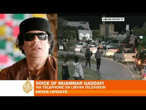 Gaddafi blames al-Qaeda for unrest