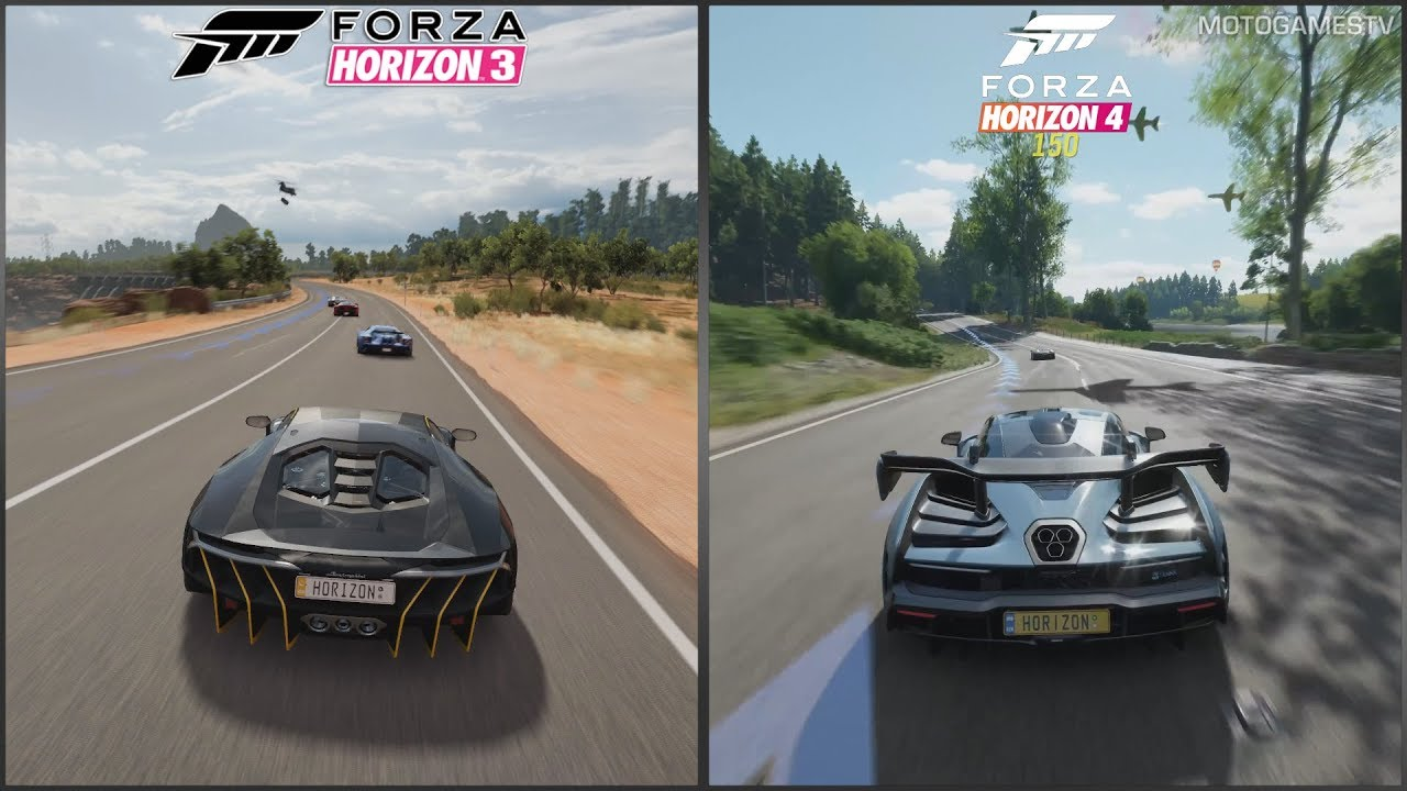 forza horizon 3 vs forza horizon 4 early gameplay. Black Bedroom Furniture Sets. Home Design Ideas