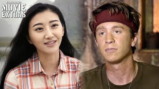 Kong: skull island | on-set visit with jing tian 'san' & thomas mann 'slivko'