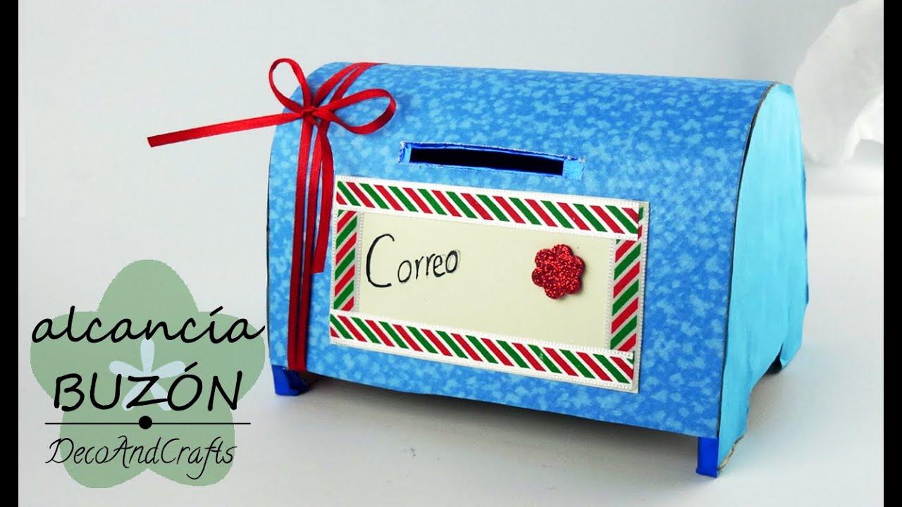 Cajita alcanc a de buz n de cartas decoandcrafts youtube for Correo la 14