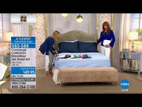 HSN | Concierge Collection Bedding 03.05.2018 - 10 PM