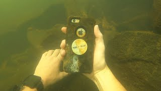 Found iPhone Underwater in the River While Scuba Diving!