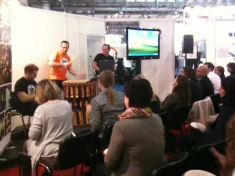 Interactive Drumsession on EIBTM in Barcelona