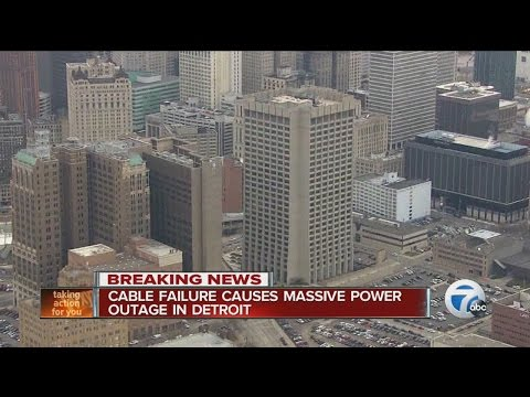 Cable failure causes massive power outage in Detroit
