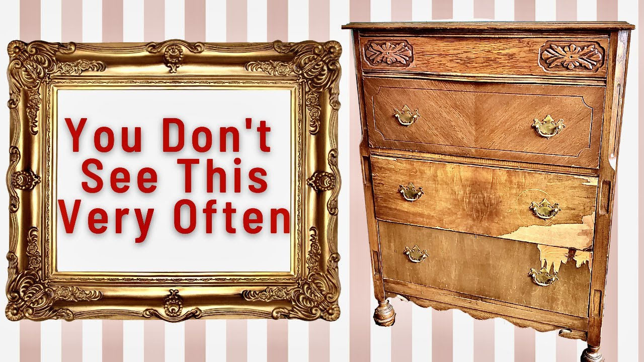 Surprising Vintage Dresser Makeover | You Don't See This Very Often | Trash to Treasure