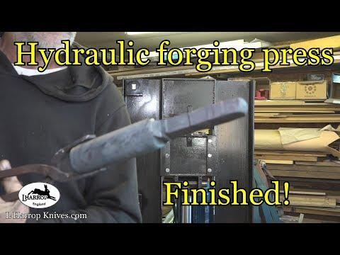 Hydraulic forging press build finished