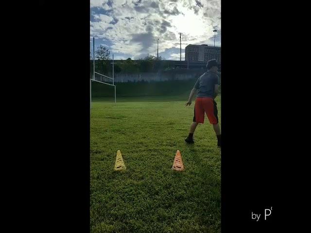 2023 QB Jordyn Potts Quick Catch and Throw  Progression