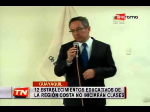 12 establecimientos educativos de la región costa no iniciarán clases