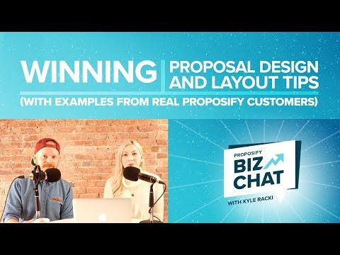Winning Proposal Design and Layout Tips - Proposify Biz Chat