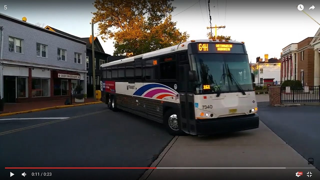 New jersey transit mci d4500 cng bus 7340 on the 64h at for Motor vehicle nj freehold