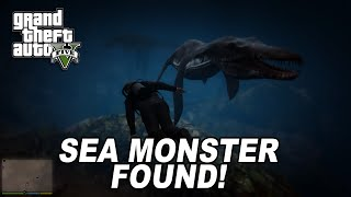 GTA 5 SEA MONSTER ALIVE ATTACK! Caught On Camera (With Location)
