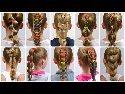 10-different-types!-how-to-do-ponytails-with-rubber-bands-✿-how-to-do-a-braid-by-littlegirlhair