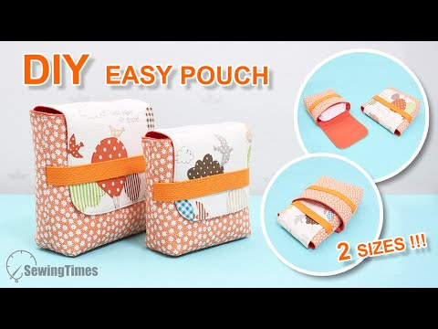 DIY Easy & Simple Pouch 2 Sizes   Beginner Sewing Projects [sewingtimes]