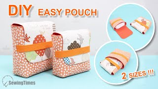 DIY Easy & Simple Pouch 2 Sizes | Beginner Sewing Projects [sewingtimes]