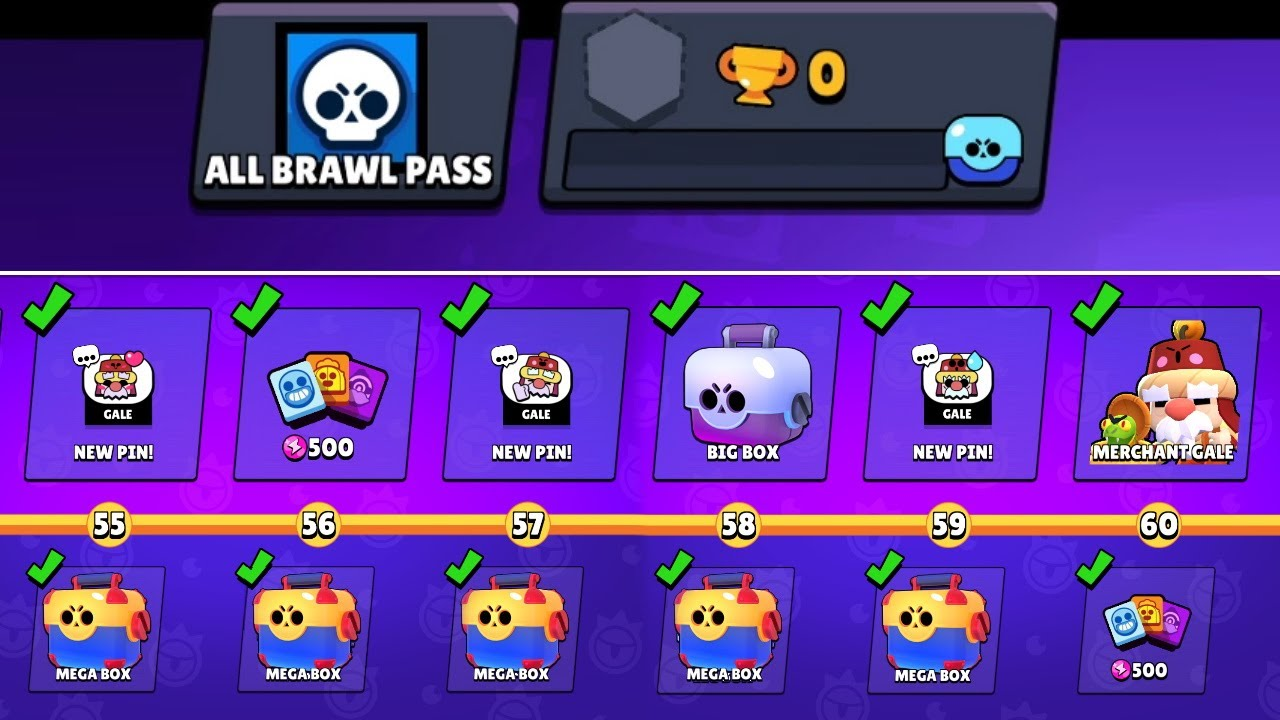 BOUGHT ALL BRAWL PASS LEVELS ON THE NEW ACCOUNT - YouTube