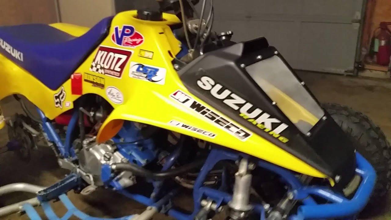 zachs 92 suzuki lt250r ice bike lrd exhaust youtube