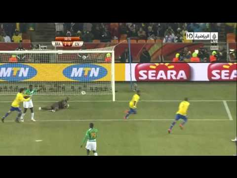 Brazil vs Ivory Coast 2-0 Goal By Luis Fabiano World Cup 2010-06-20.flv