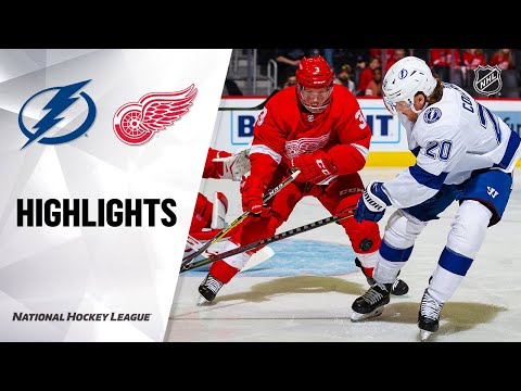 NHL Highlights | Lightning @ Red Wings 03/08/20