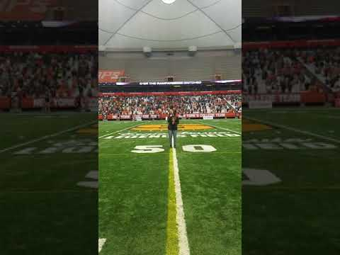 Vada March Singing the National Anthem at the Carrier Dome