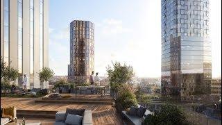 SOM + Entasis Unveil New Views of Karlatornet in Gothenburg