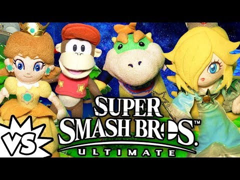 ABM: Daisy & Diddy Vs Rosalina & Junior !! SUPER SMASH BROS ULTIMATE !! ᴴᴰ