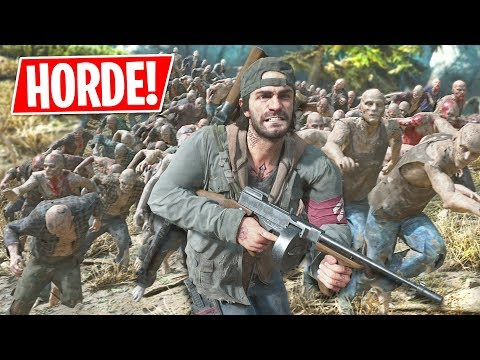 World's Biggest ZOMBIE HORDE in  Days Gone! (Old Sawmill Zombie Horde)