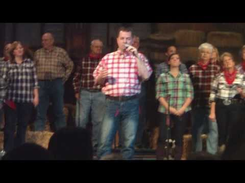 Trent Soles singing at Country Christmas Musical 2012