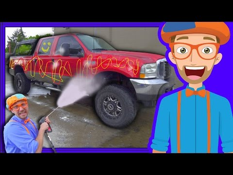 Thumbnail: Blippi Car Wash | Truck Videos for Children