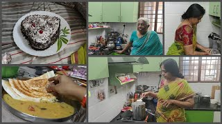 First Time Black Forest Cake making | Full Day Routine | Lunch preparation | Cleaning