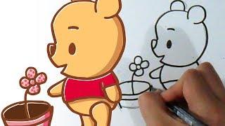 Cómo dibujar  Winnie Pooh Kawaii