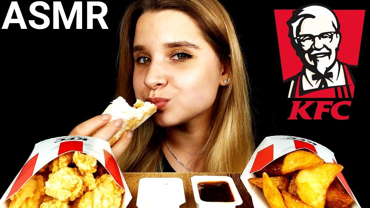 ASMR KFC Crispy Fried Chicken Bites & Twister & Fries Mukbang (No Talking) Eating Sounds|Tasty ASMR