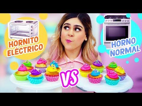 CUPCAKES EN HORNITO ELÉCTRICO VS HORNO NORMAL | MIS PASTELITOS