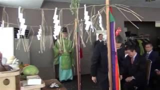 小樽天狗山スキー場12/14オープンで安全祈願祭画像