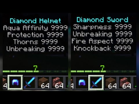 How to give OP ENCHANTMENTS to items in Minecraft (PE)