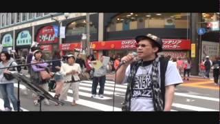 2014.7.6 札幌中心部で行われた四番街まつりでのミニライブ。