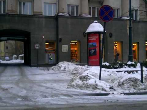 Weather in Vilnius, Lithuania, 2010-02-12, 7.30 am, minus 5 from Oras TV