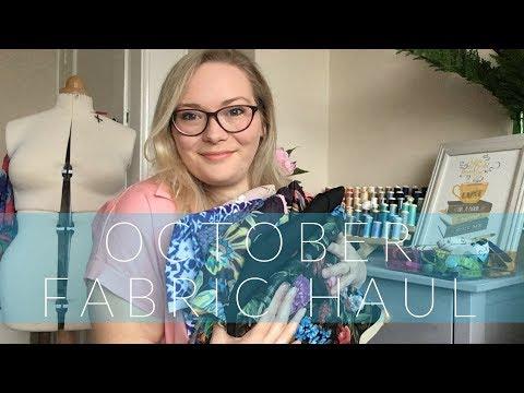 October Fabric Haul || Fabric Godmother