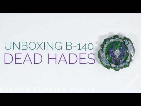 UNBOXING B-140 05 Dead Hades.8'E.X' Random Booster Vol. 15 | Beyblade Burst Malaysia