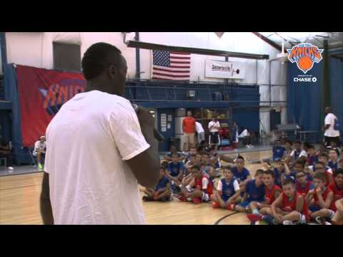 Knicks Thrill The Kids At Basketball Camps