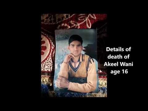 GCJ  Video evidence of killing of Akeel Wani in  Kashmir India  April 9, 2017