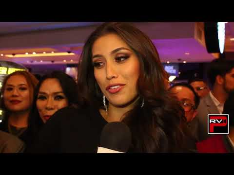 Rachel Peters post Miss Universe interview plus shots of her being mobbed at Planet Hollywood