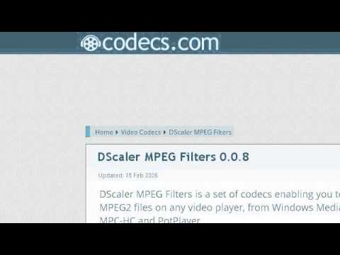How-To Install MPEG 2 Codecs