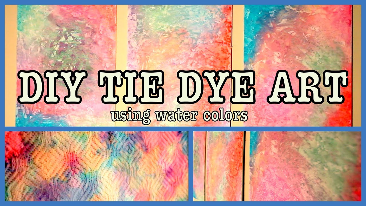 DIY TIE DYE ART Using DIY Water Colors! - YouTube