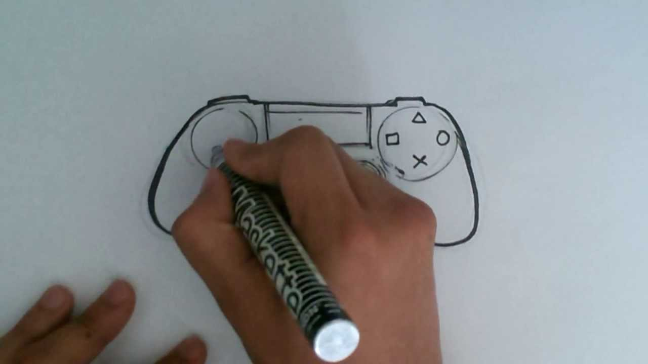 How to draw a ps4 controller easy things to draw youtube for How to make doodle