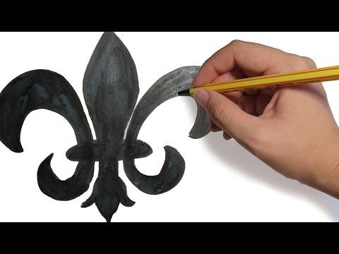 Como Dibujar Una Flor De Lis Facil Paso A Paso Youtube