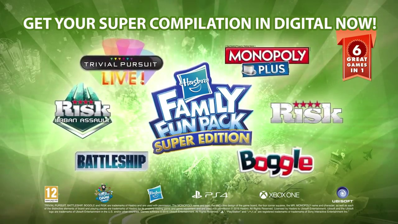 hasbro family fun pack super edition launch trailer 2016 ps4 xbo youtube. Black Bedroom Furniture Sets. Home Design Ideas