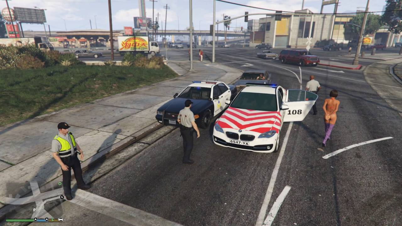 GTA 5 LSPDFR 警察模組 033 疑犯攜械搶奪臺灣警車 - YouTube